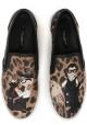 Slip-on Dolce&Gabbana donna in Pelle leopardato