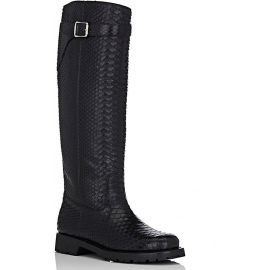 Stivali al ginocchio Saint Laurent in pitone nero