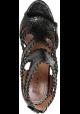 Sandali tacco alto Alaïa in pelle di pitone nero