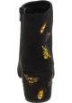 Steve Madden Stivaletti ricamati tacco donna tessuto effetto camoscio nero
