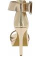Steve Madden Sandali con plateau tacco alto da donna in finta pelle oro
