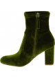 Steve Madden Stivaletti alla caviglia con tacco da donna in velluto verde