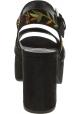 Steve Madden Sandali plateau ricamati stampa floreale donna camoscio multicolore