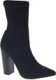 Steve Madden Stivaletti mezzo polpaccio tacco alto donna tessuto tecnico nero