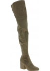 Steve Madden Stivali sopra al ginocchio con tacco donna camoscio grigio talpa