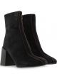 Acne Studios Stivaletti alla caviglia donna tacco in pelle scamosciata nera