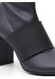 Maison Margiela Stivaletti alla caviglia tacco squadrato donna in nappa blu