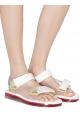 Melissa Sandali bassi fashion da donna in gomma bianca con chiusura velcro