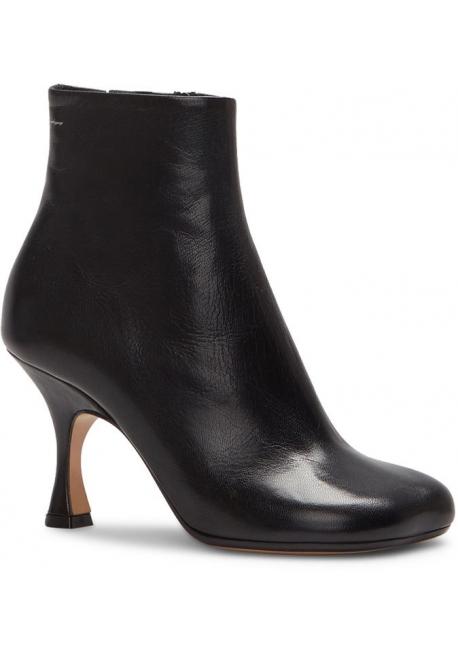 Maison Margiela Stivaletti alla caviglia tacco da donna in pelle vitello nera