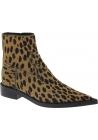 Maison Margiela Stivaletti a punta da donna in pelle di cavallino leopardata