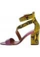 Paris Texas Sandali tacco alto con fibbia donna pelle di pitone multicolore
