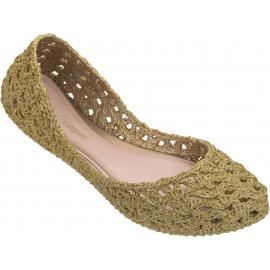 Melissa Scarpe ballerine slip-on fashion donna gomma intrecciata glitterata oro