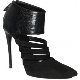 Balenciaga Stivaletti donna in camoscio nero con tacco a spillo