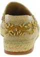 Dolce&Gabbana Espadrillas da uomo pelle di caimano tessuto beige con perline