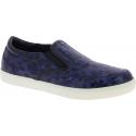 Dolce&Gabbana Sneakers slip-on da uomo pelle caimano blu stampa coccodrillo