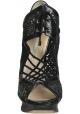 Stivaletti con tacco Nicholas Kirkwood in pelle tessuto nero