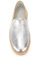 Hogan Espadrillas slip on bicolore fashion da donna in pelle argento oro