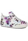 Hogan Sneakers da donna in pelle multicolore stampa fiori cuori con perle