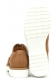 Hogan Scarpe francesine brogues con lacci da donna in pelle color cuoio