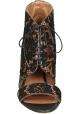 Sandali tacco alto Givenchy in pizzo nero e pelle