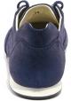 Hogan Sneakers basse fashion da donna con lacci in pelle blu effetto bagnato