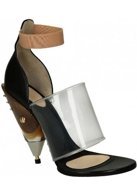 Sandali con tacco Givenchy in Pelle di vitello nero