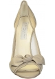 Decoltè spuntate Stella McCartney in Finta pelle beige