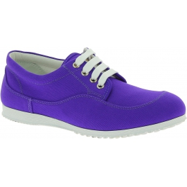 Hogan Sneakers basse fashion da donna con punta arrotondata in tela viola