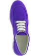 Hogan Sneakers basse fashion da donna con punta arrotondata in tela viola