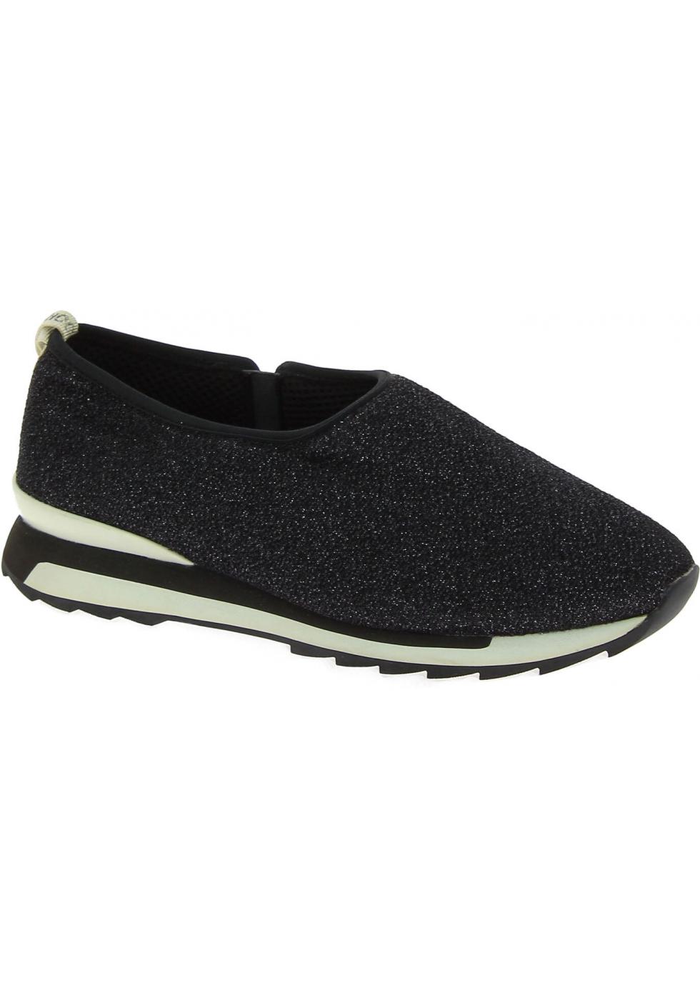 Hogan Sneakers basse slip-on fashion da donna in tessuto nero con ...