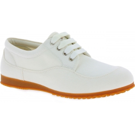 Hogan Sneakers basse fashion punta arrotondata da donna in tela bianca