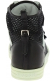 Hogan Sneakers alte fashion da donna in pelle e tessuto bianco nero con velcro