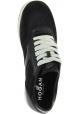 Hogan Sneakers basse bicolore da donna fashion in pelle e tessuto nero