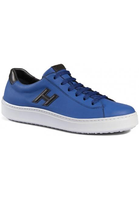 Sneakers Hogan H302 realizzate in pelle celeste