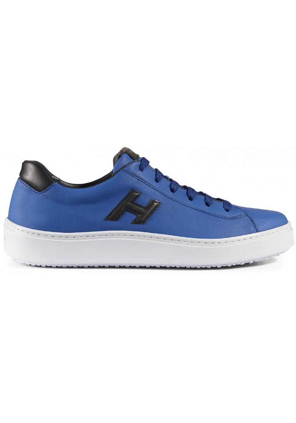 Sneakers Hogan H302 realizzate in pelle celeste - Italian Boutique