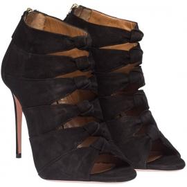 Sandali tacco alto Aquazzura in camoscio nero