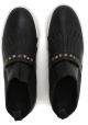Stivaletti slip-on Hogan donna in pelle nero con frange