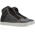 Sneakers Hogan Rebel donna in pelle e brillantini
