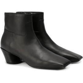 Stivaletti punta squadrata Balenciaga in pelle nero