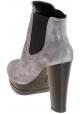 Stivaletti donna Hogan con tacchi alti e plateau in scamosciato grigio