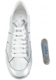 Sneakers a zeppa donna Hogan in pelle argento