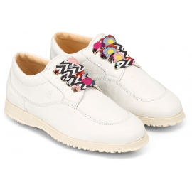 Sneakers donna Hogan in pelle bianca e lacci decorativi