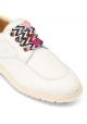 Sneakers donna Hogan in pelle bianca e lacci decorativi