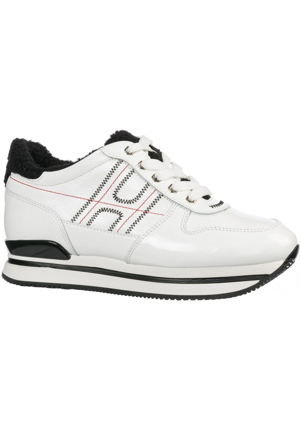 Sneakers donna con zeppa Hogan in pelle bianco - Italian Boutique
