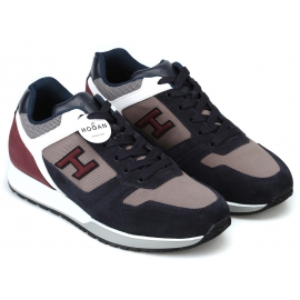 Hogan Sneakers fashion con punta arrotondata da uomo in pelle multicolore