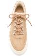 Hogan Sneakers basse da uomo in pelle beige con finta pelliccia all'interno
