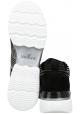 Hogan Sneakers fashion con punta arrotondata da donna in pelle nera motivo argentato