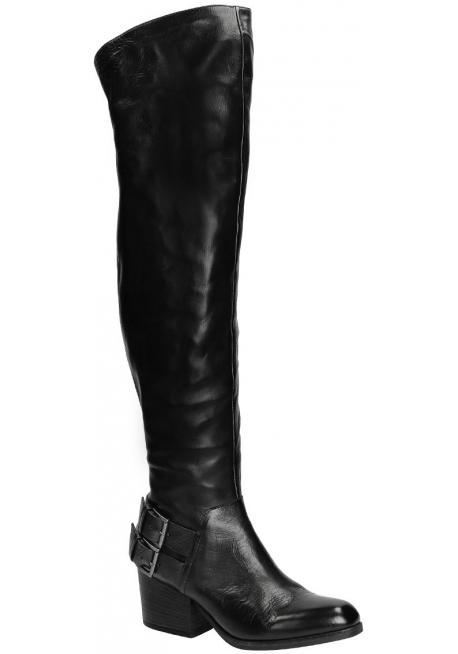 Stivali sopra al ginocchio Vic Matié in pelle nero