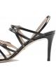 Sandali Gucci donna eleganti con tacchi in pelle nera