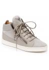 Sneakers alte Zanotti donna con lacci in pelle grigio